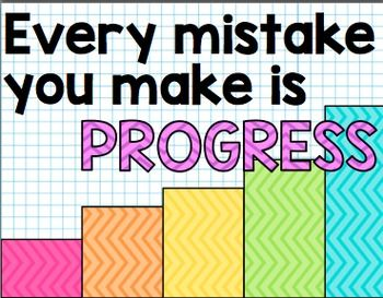 GROWTH MINDSET MOTIVATIONAL POSTERS - TeachersPayTeachers.com