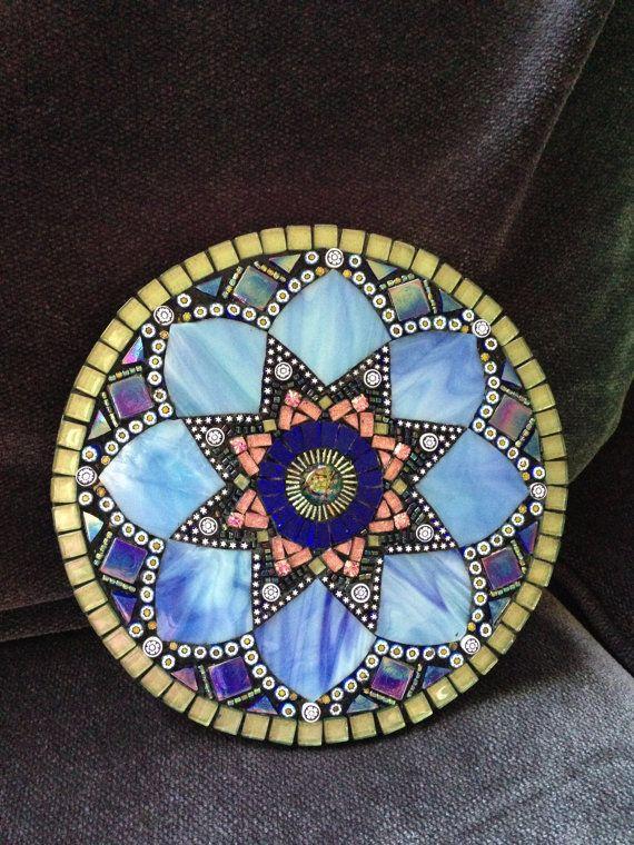 Mosaic Mandala by Moonjewelsandmosaics on Etsy, $125.00