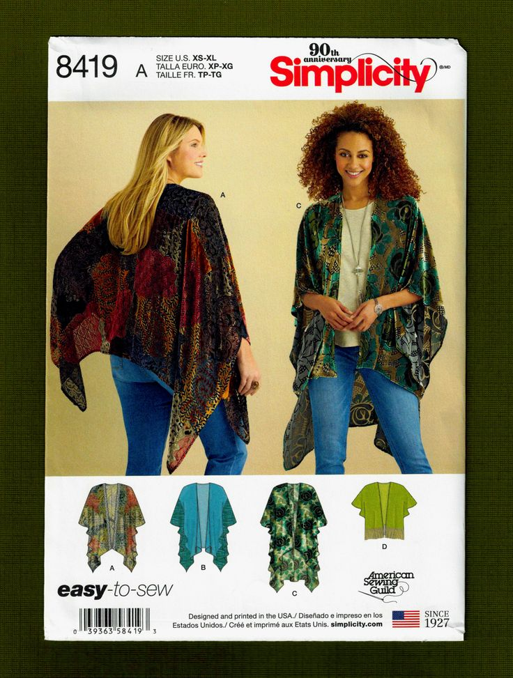 137 best SEWING PATTERNS - Coats, Capes images on Pinterest | Sew ...