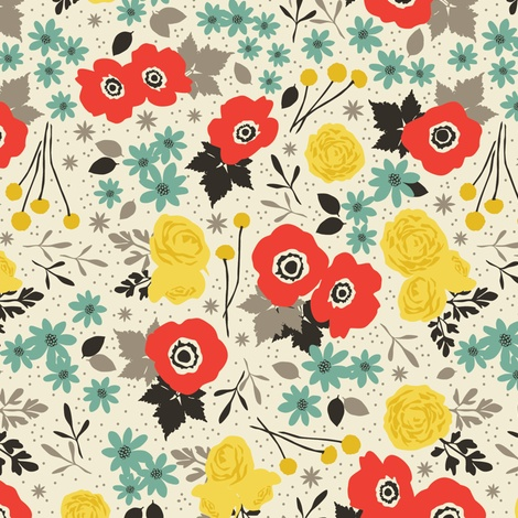 blumen fabric by einekleinedesignstudio on Spoonflower