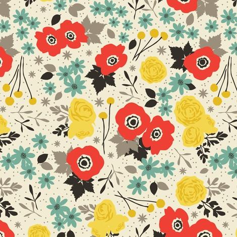 Blumen fabric by einekleinedesignstudio on Spoonflower