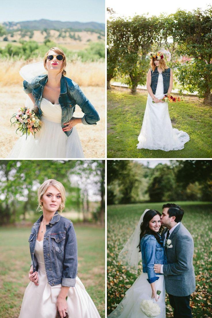 Une veste en jean pour la mariée | Look Mariage | Queen For A Day - Blog mariage