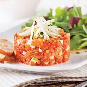 Tartare de saumon pomme et érable - Recettes - Cuisine et nutrition - Pratico Pratique