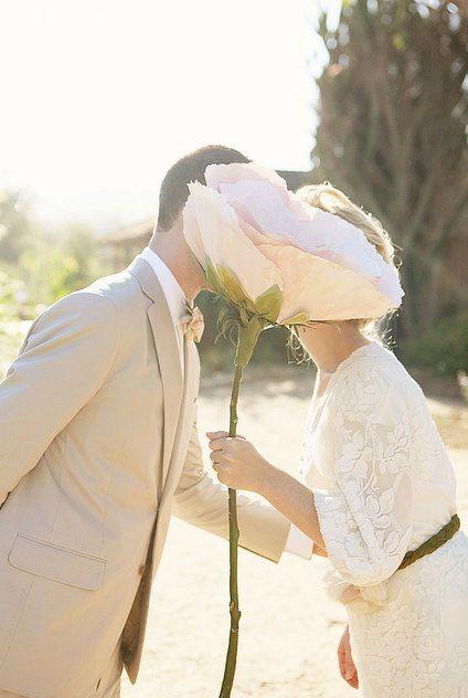 Handpainted oversized paper flower for wedding or decor!