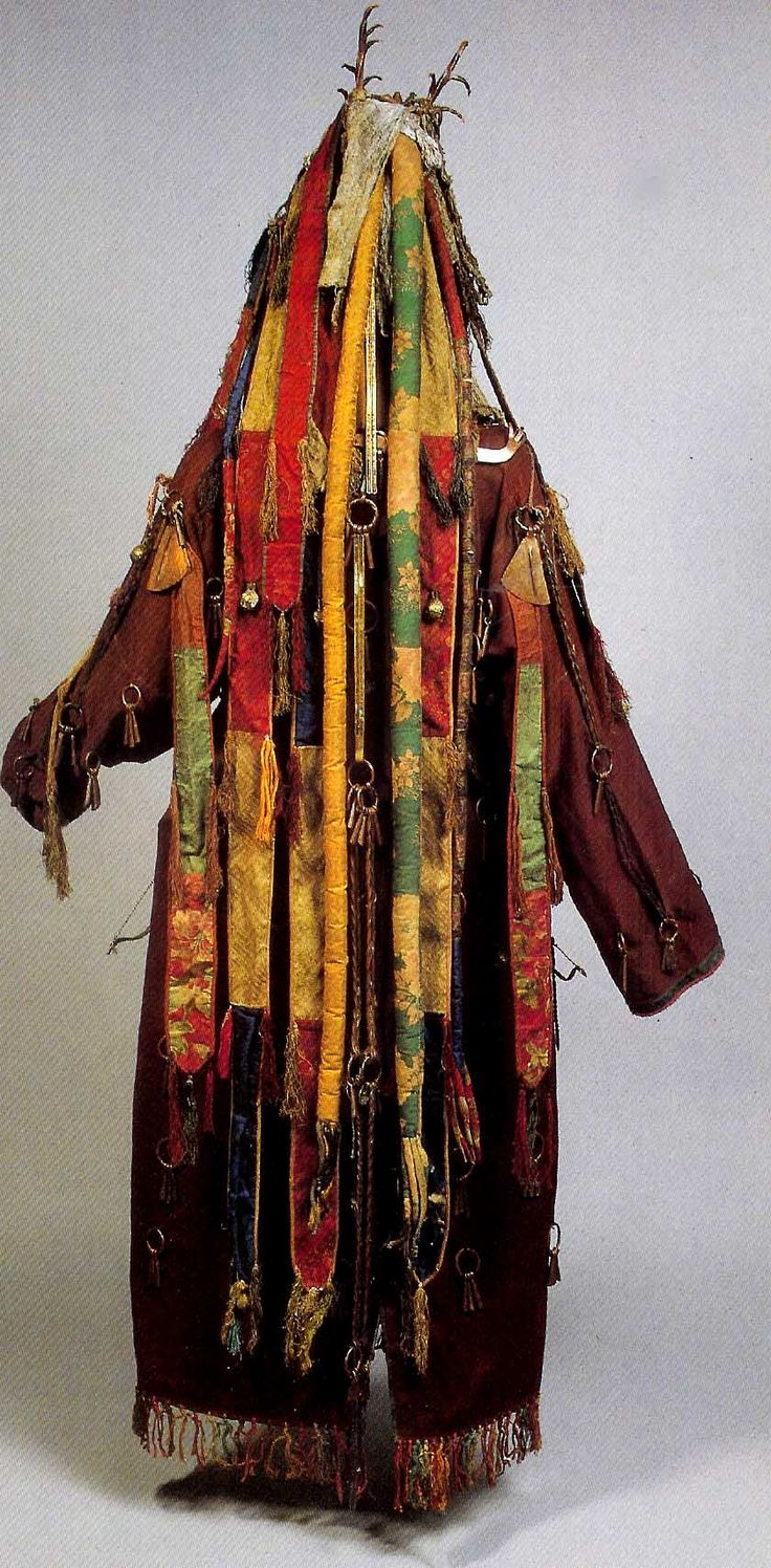 Reverse of costume , Mongolian shamon's garment.