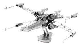 Boldy go to a galaxy far, far away with Star Trek and Star Wars 3D Laser Cut Models. This one is Metal Earth 3D Model Star Wars X-Wing Fighter