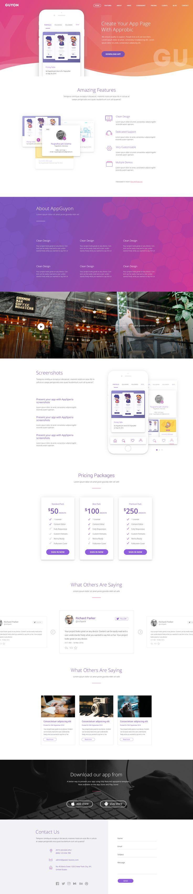56 best landing page images on Pinterest | Design web, Design ...