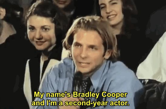 Little did he know that one of the students that asked Sean Penn a question in 1999 was none other than Bradley Cooper himself: | Theory: Bradley Cooper's Entire Career Exists Only To Prove Louis C.K. Wrong