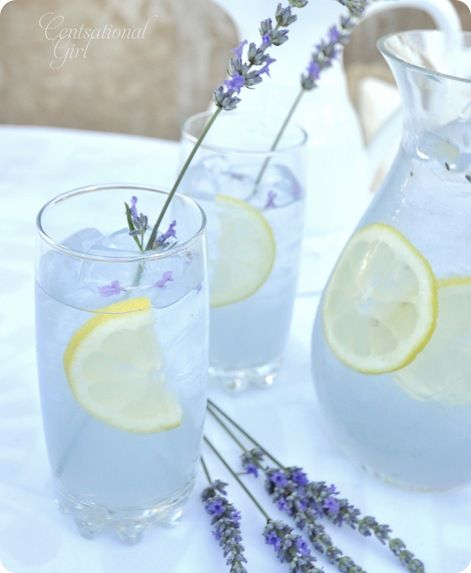 Lavender Lemonade...I could picture myself drinking this while taking a nice bubble bath. Then I wake up and hear the kids, dogs and husband going crazy!!