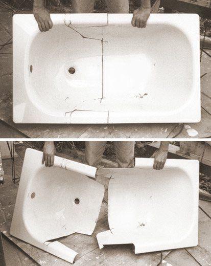 Como hacer un sill n con una ba era antigua deco eco for Sillones usados baratos