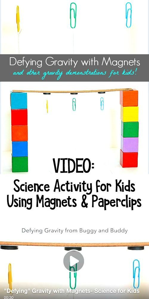 """Science Experiment for Kids: """"Defy"""" Gravity in this fun science activity and demonstration for children using paperclips and magnets! ~ BuggyandBuddy.com"""