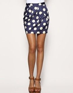 polka dot skirt: Polka Dotss, Fashion, Polka Dot Skirts, Style, Navy Pencil Skirt, Tulip Skirt, Polkadots, Cute Skirts