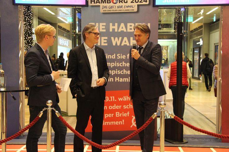 Vom 23.11. - 28.11. wurde die Europa Passage zur Wahlarena für Olympische und Paralympische Spiele 2024 in Hamburg. #EuropaPassage #EuropaPassageHamburg #OlympiainHamburg #Olympia2024