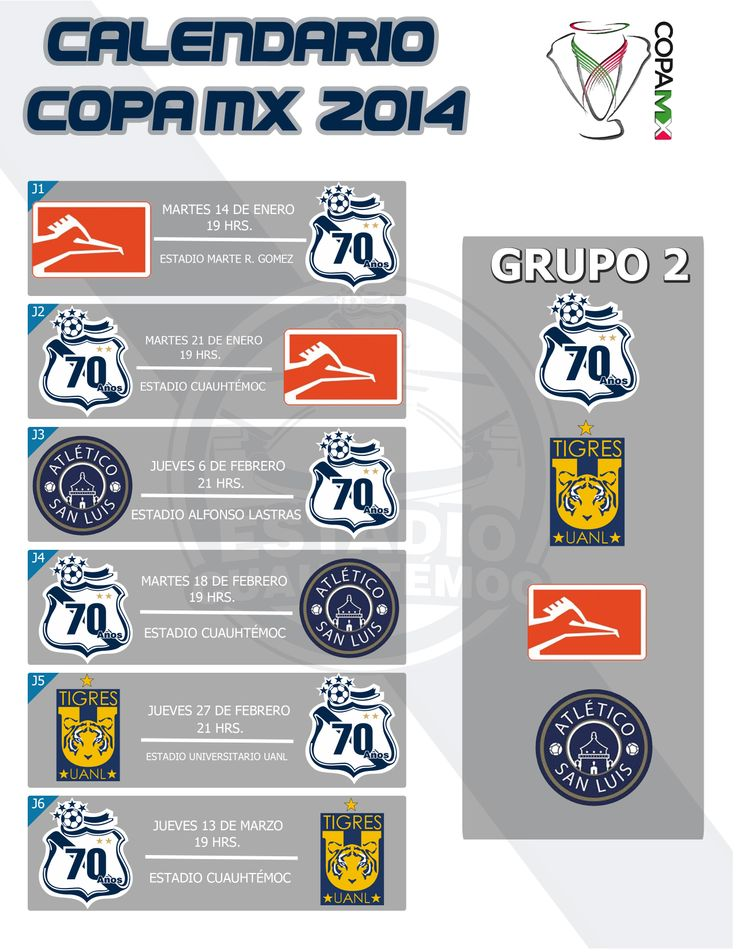Calendario Copa MX Clausura 2014