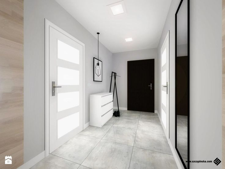 Projekt mieszkania... - Hol / przedpokój, styl nowoczesny - zdjęcie od Hania Szczypińska - Architektura Wnętrz