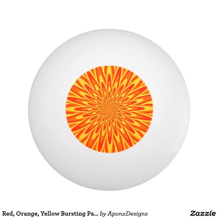 Red, Orange, Yellow Bursting Pattern