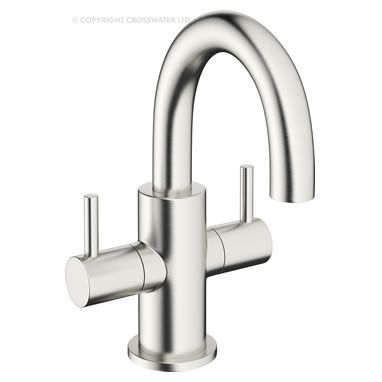 Crosswater Mike Pro Brushed Stainless Steel Mini Basin Mixer Tap