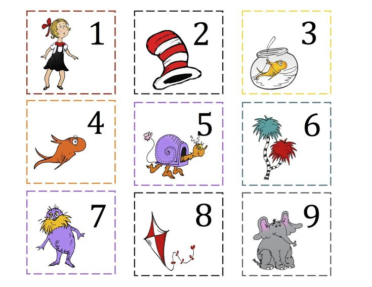 Preschool Printables: That Cat Number Cards 1-100   Dr