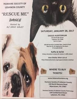 Humane Society of Lebanon County: Flyer Distribution for our Rescue Me Dance