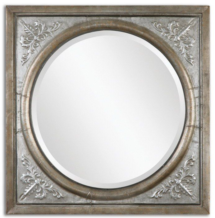 uttermost ireneus burnished silver mirror overstock shopping great deals on uttermost mirrors