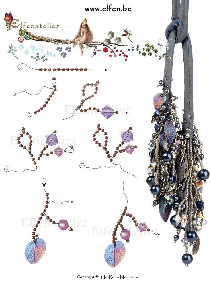 FREE Diagram for Beaded Branches from elfen.be