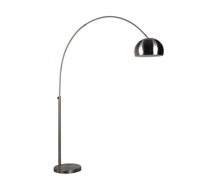 Zuiver Bow booglamp vloerlamp metaal - Geborsteld metaal
