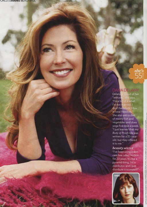 Dana Delany is 55, looks years younger, and says her secret is her 20 year use of NuSkin products.