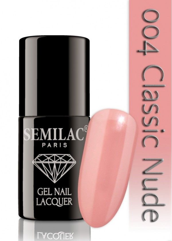 Semilac 004 Classic Nude UV&LED Nagellack. Auch ohne Nagelstudio bis zu 3 WOCHEN perfekte Nägel!