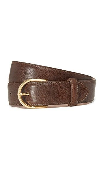 W.Kleinberg Pebbled Leather Basic Belt