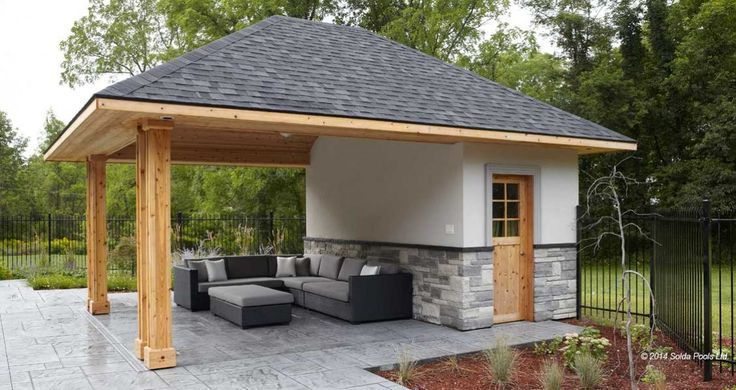 Outdoor pool house cabana backyard pinterest the for Pool houses and cabanas