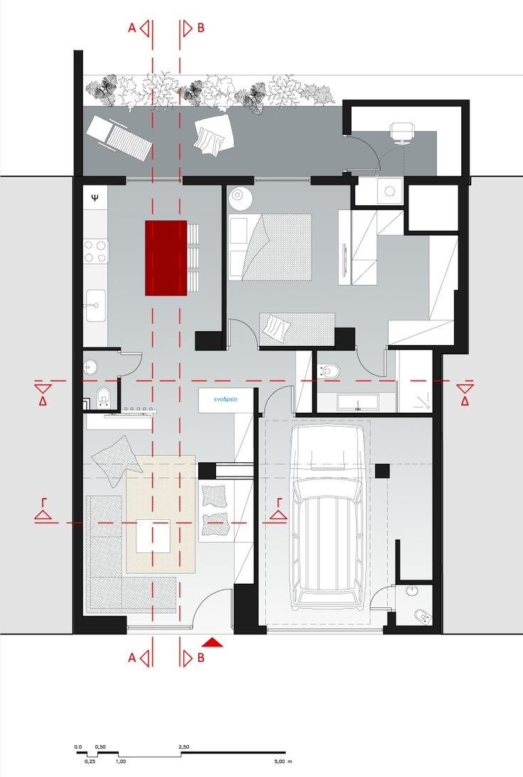 project_Apartment for two in Argiroupoli, Athens | phase_Proposal | title_Plan | architects_Ioanna Chamilou◦Natasa Markopoulou | year_2012