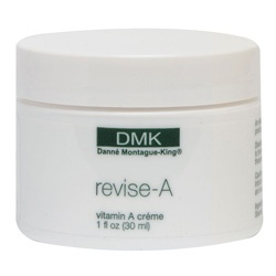 Danne DMK {revise-A}  revise-A is designed for skins that are on a maintenance program. This vitamin A derivative is a modified version of retosin which helps to improve the appearance of the skin. Its formulation is designed to soften and address the skin's surface and challenge roughness, uneven skin tone, tired sagging skin and early signs of ageing.