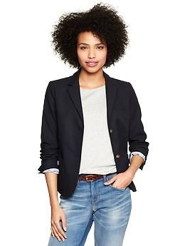 Classic pique blazer | Gap This looks like it would be perfectly dressy and comfortable at the same time.