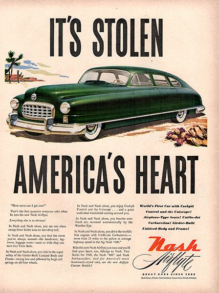 1949 Nash Automobile Original Car Print Ad