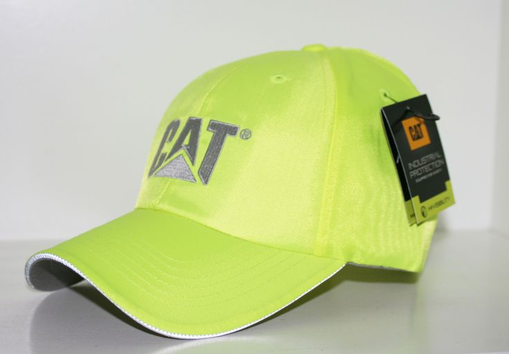 Caterpillar cat hivis safety yellow trademark cap caps