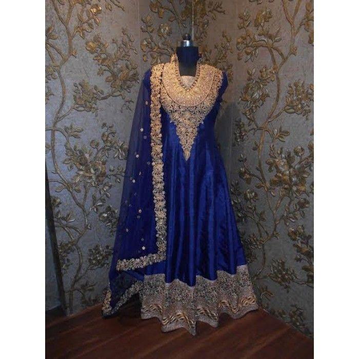 Exquisite Blue Designer Salwar Suit