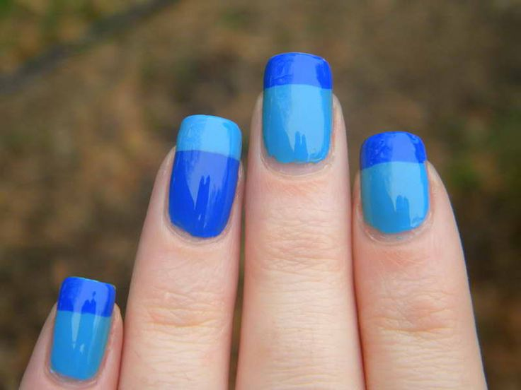french tip nails | Blue French Tip Nail Designs Pictures