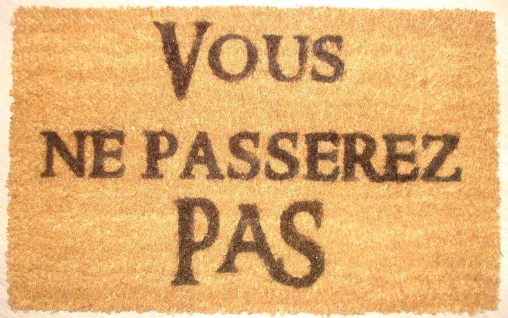 Paillasson seigneur des anneaux /lord of the ring : Accessoires de maison par le-ruban-rouge