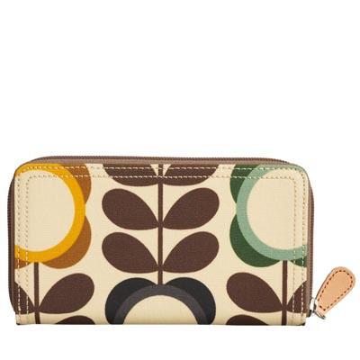 big summer flower big zip wallet by Orla Kiely