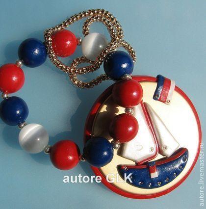 Комплект - браслет,подвеска стиль морской Яхта - морской стиль,яхта,браслет