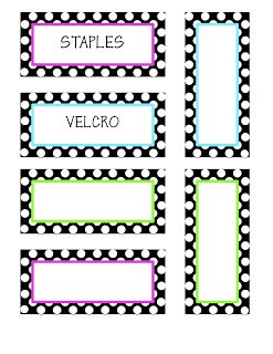 Classroom Decor & More: Teacher Toolbox Labels