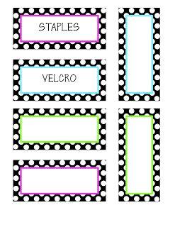 Classroom Decor & More: Teacher Toolbox Labels