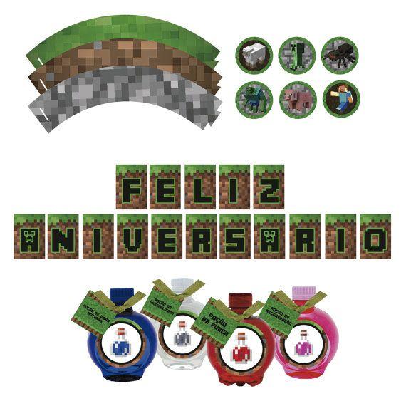 Kit Minecraft para imprimir