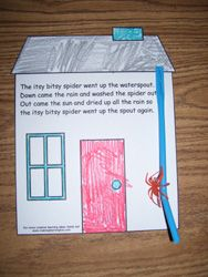 manipulate the itsy bitsy spider up and down the straw