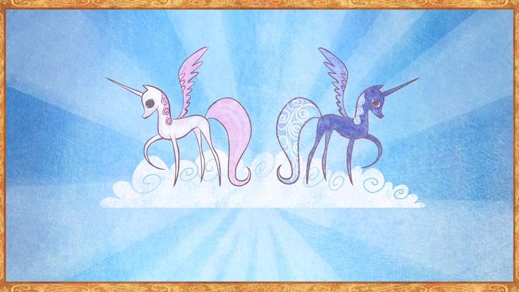 Princess Celestia and Princess Luna. #MLPFiM #MyLittlePony