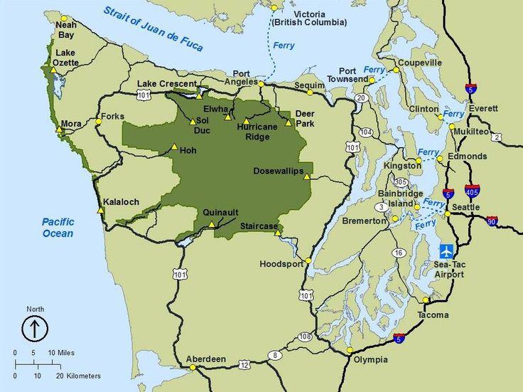 Die besten 25 Olympic national park map Ideen auf