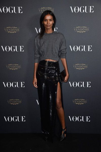 Liya Kebede attends the Vogue 95th Anniversary Party on October 3, 2015 in Paris, France.