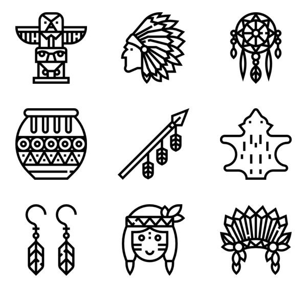 92 Icon Packs Of Native American Free Icon Set Icon Native American