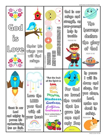 Printable Bible verse book marks. These are the BEST
