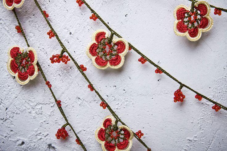 turkish #oya #crochet #lace, via Etsy.